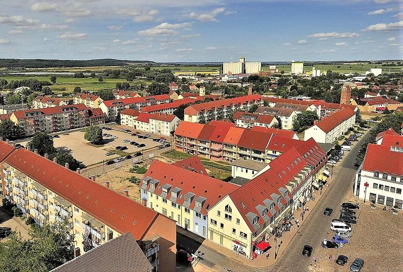 Malchin Luftbild Foto: Archiv Nordkurier